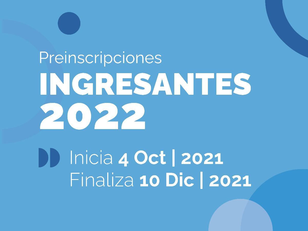 Pre Inscripciones para ingresantes 2022